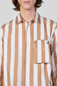 BROWN STRIPES REGULAR SHIRT