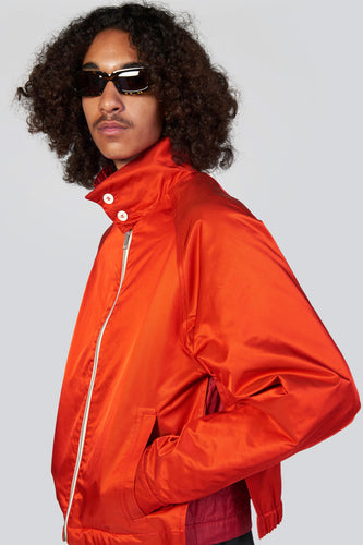 RED REVERSIBLE BOMBER JACKET