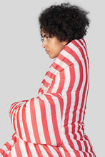 Load image into Gallery viewer, RED STRIPES PUFFY KIMONO