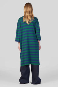 BLUE & GREEN KNIT POLO DRESS