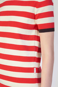 RED & WHITE KNIT T-SHIRT