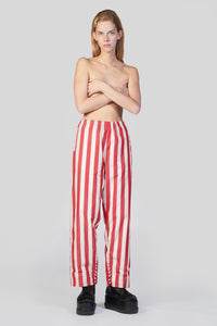 RED STRIPES ELASTIC PANTS