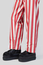 Load image into Gallery viewer, RED STRIPES ELASTIC PANTS