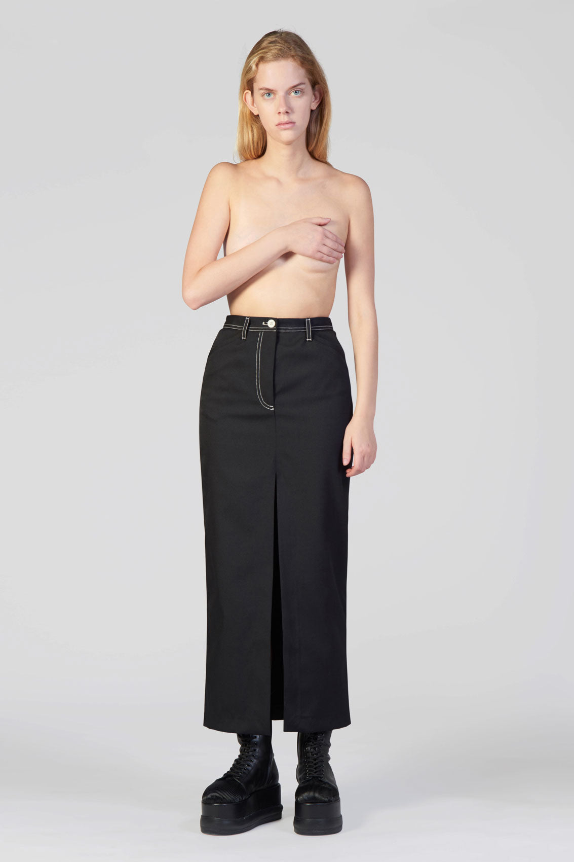 BLACK LONG SKIRT
