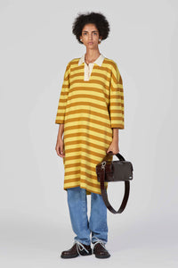YELLOW & MUSTARD KNIT POLO DRESS