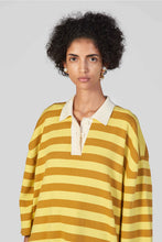 Load image into Gallery viewer, YELLOW & MUSTARD KNIT POLO DRESS