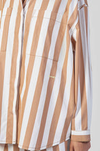 Load image into Gallery viewer, BROWN STRIPES OVER SHIRT