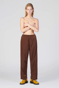 BROWN ELASTIC PANTS