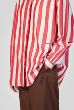 Load image into Gallery viewer, RED STRIPES OVER SHIRT