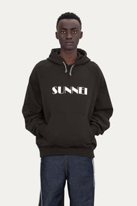 BROWN HOODIE WITH LOGO