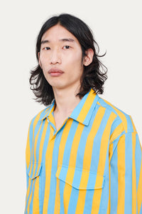 AZURE & YELLOW SHIRT WITH POCKETS