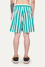 Load image into Gallery viewer, OFF WHITE & MINT STRIPED SHORTS