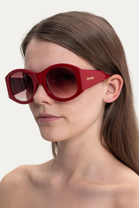 RED OVER SUNGLASSES