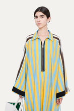 Load image into Gallery viewer, AZURE & YELLOW LONG TUNIC SHIRT