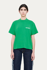 GREEN T-SHIRT WITH LOGO