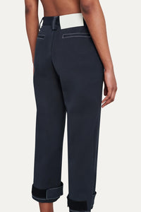 DARK BLUE 3/4 STRAIGHT PANTS