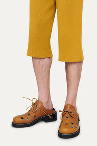 MUSTARD KNIT SHORT PANTS