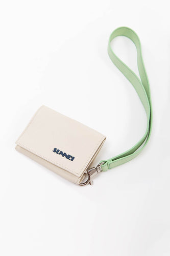 BEIGE AND PISTACHIO WALLET