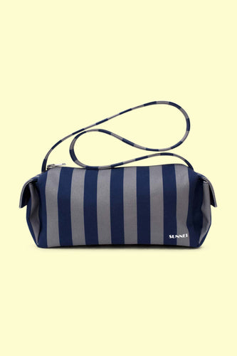 BLUE & DARK GREY BAULETTO BAG