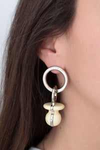 WHITE DUMMY EARRINGS