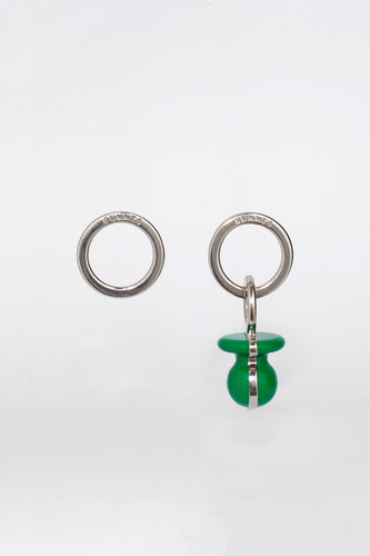 GREEN DUMMY EARRINGS