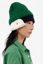 Load image into Gallery viewer, GREEN KNIT BEANIE