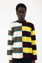 Load image into Gallery viewer, STRIPED KNIT T-SHIRT