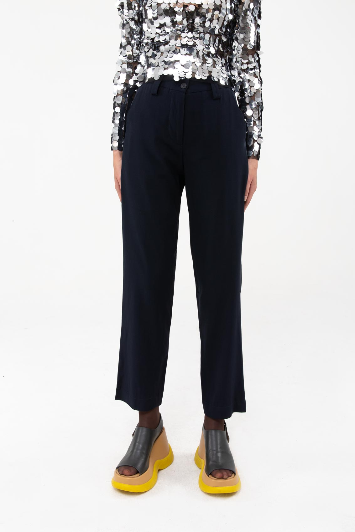 DARK BLUE STRAIGHT PANTS