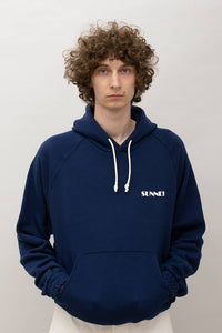 BLUE HOODIE WITH LOGO
