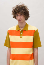 Load image into Gallery viewer, STRIPED KNIT POLO