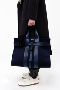 BLUE PARALLELEPIPEDO BAG