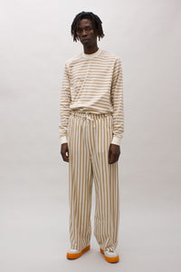 SAND STRIPED JOGGER PANTS