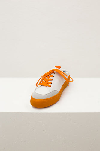ORANGE & WHITE SABOT SNEAKERS