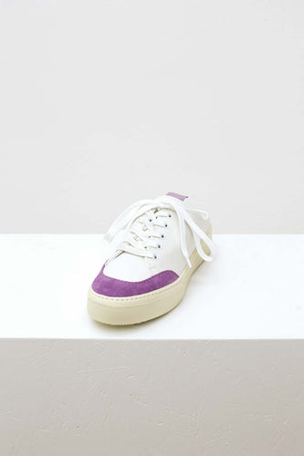 WHITE & LILAC SABOT SNEAKERS
