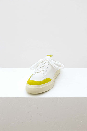 WHITE & YELLOW SABOT SNEAKERS