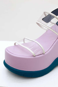 LILAC & GREEN SANDALS
