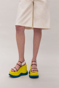 YELLOW & GREEN SANDALS