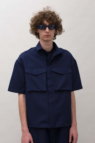DARK BLUE VELCRO SHIRT