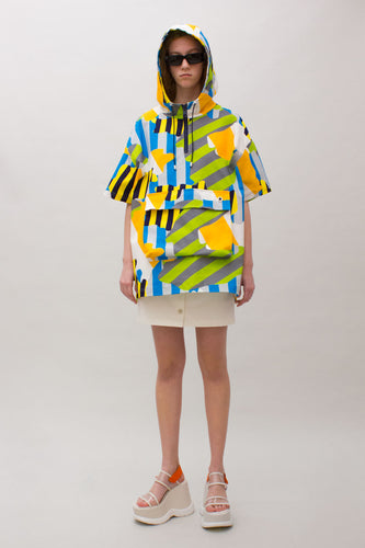 MULTICOLOR HOODED SHIRT