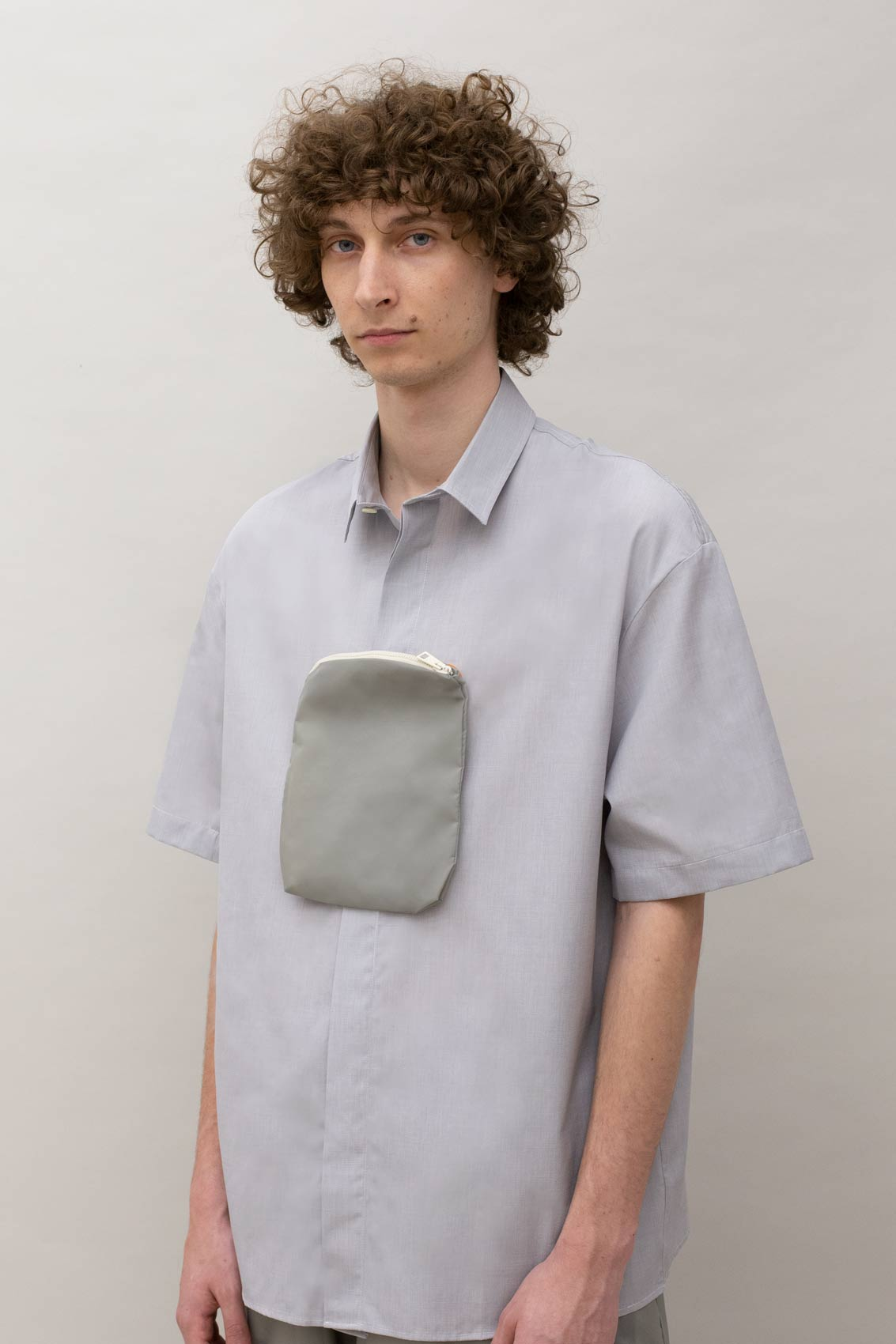 GREY POCKET PANEL SHIRT