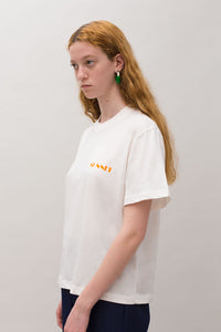 ORANGE MINI LOGO WHITE T-SHIRT
