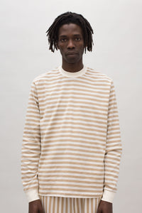 SAND STRIPED LONG SLEEVE T-SHIRT