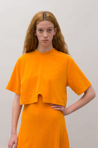 ORANGE CROPPED T-SHIRT