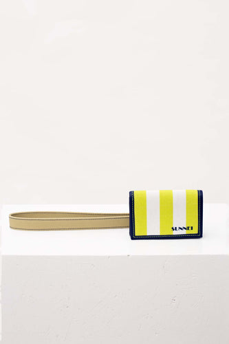 BEIGE & ACID GREEN WALLET