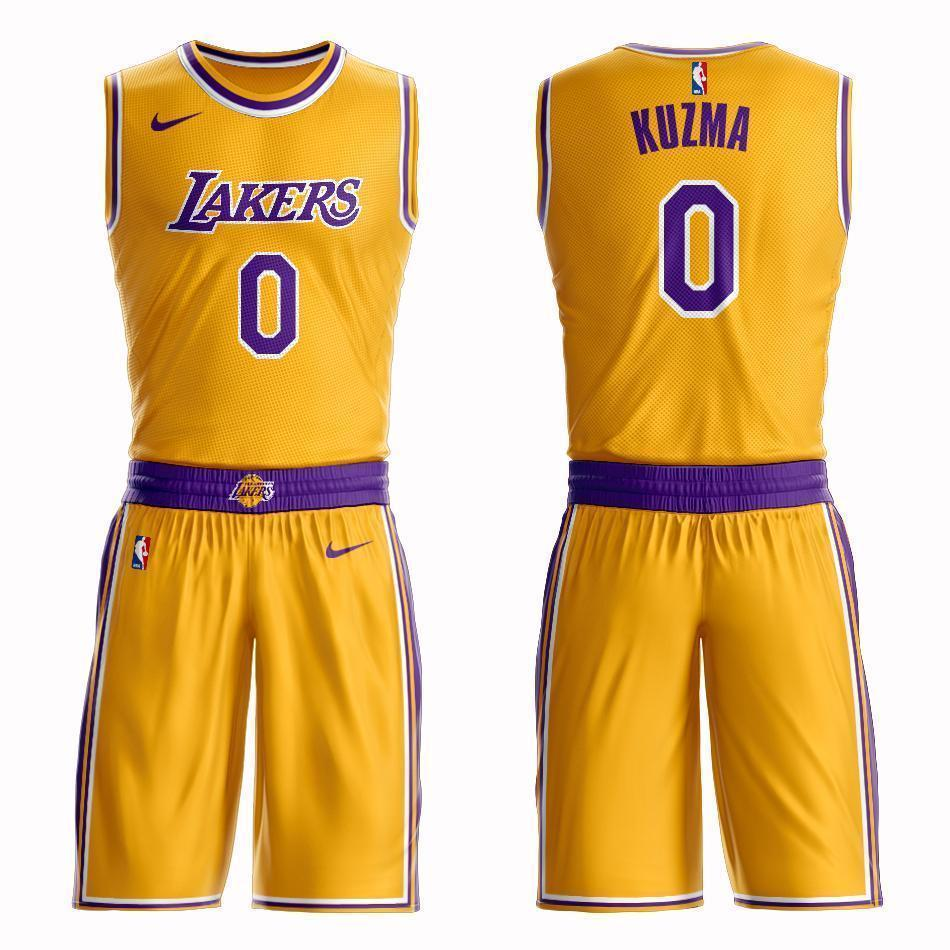 huge selection of b57c4 45bc1 Los Angeles Lakers #0 Kyle Kuzma Icon Jersey and Pant Set