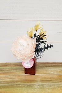 Pale Pink Peony in Glass Vase