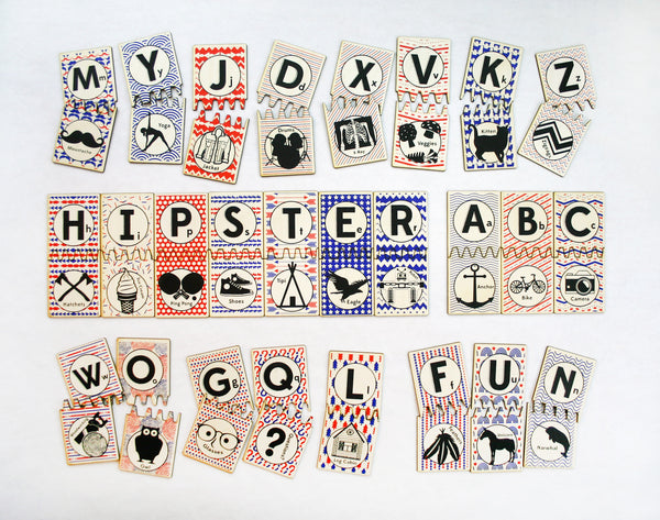 Hipster ABC Matching Tile Set