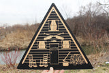 Personalized A-Frame Cabin Wall Art