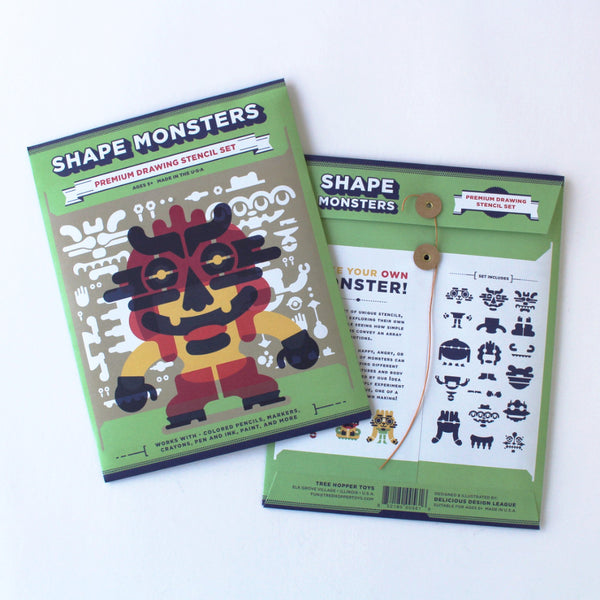 Shape Monsters - Drawing Stencils