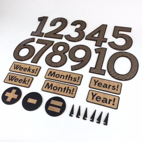 Wooden Milestone Cards